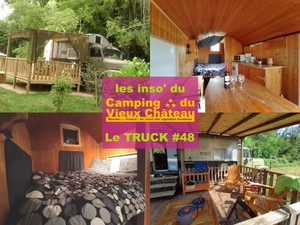 hebergement insolite camping vieux chateau rauzan truck camion militaire